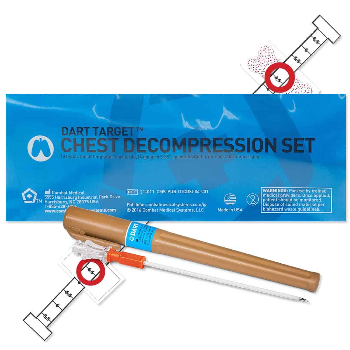 chest decompression set