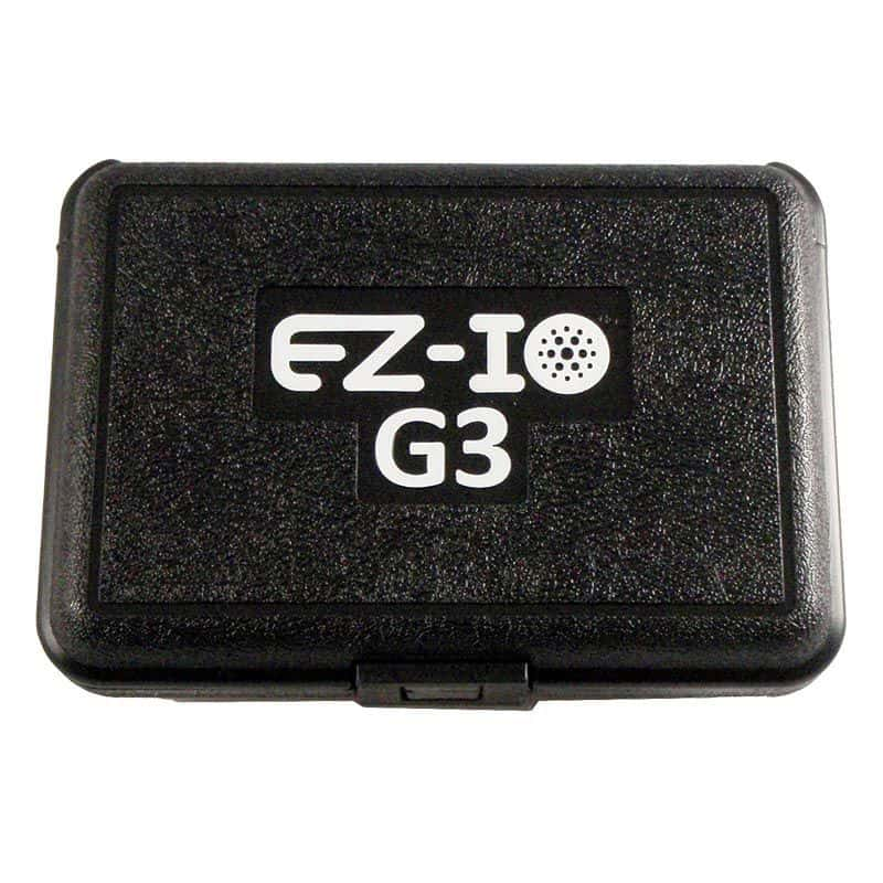 ez io g3 hard sided carrying case qith quick reference guide