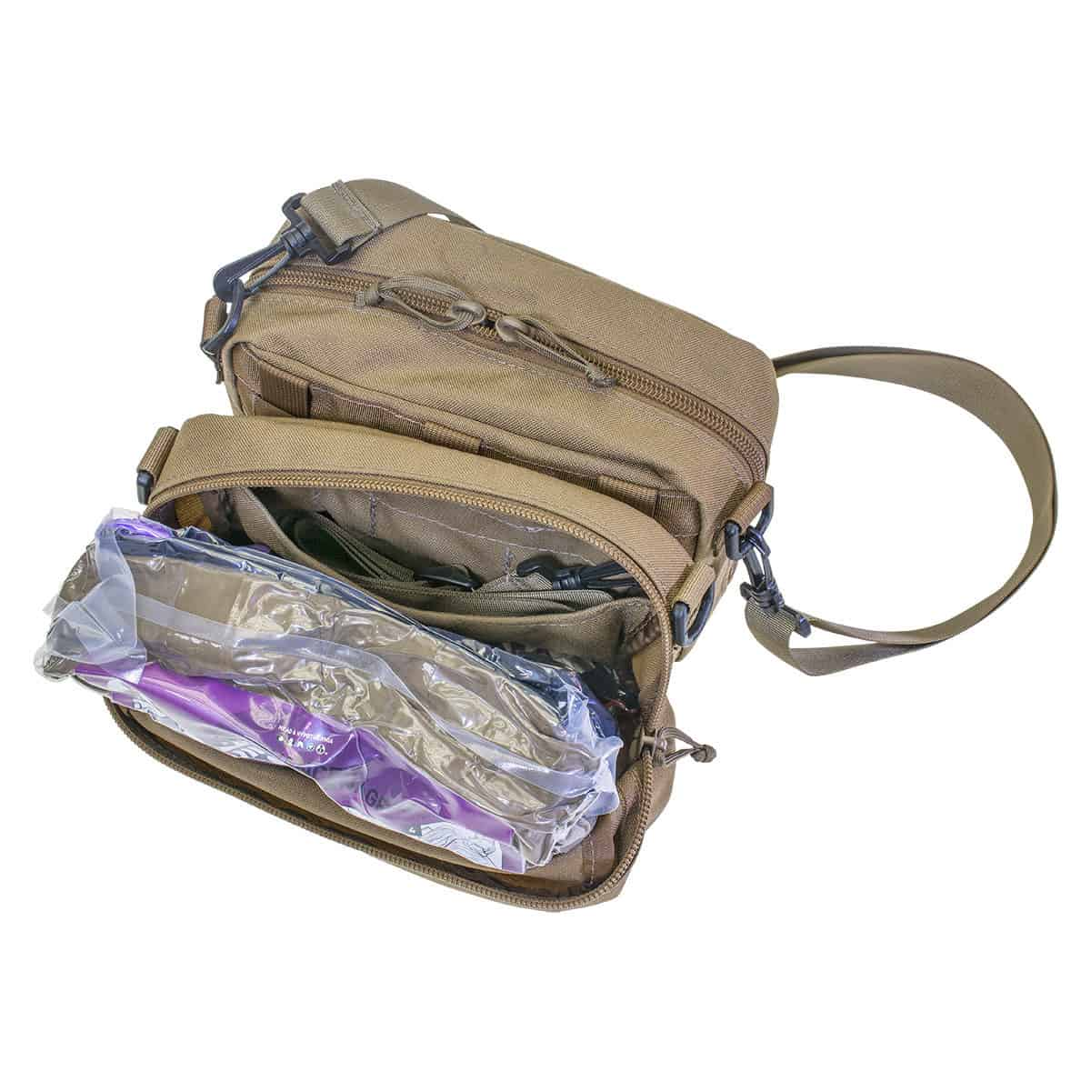 hawk carrier opened shoulder strap pocket