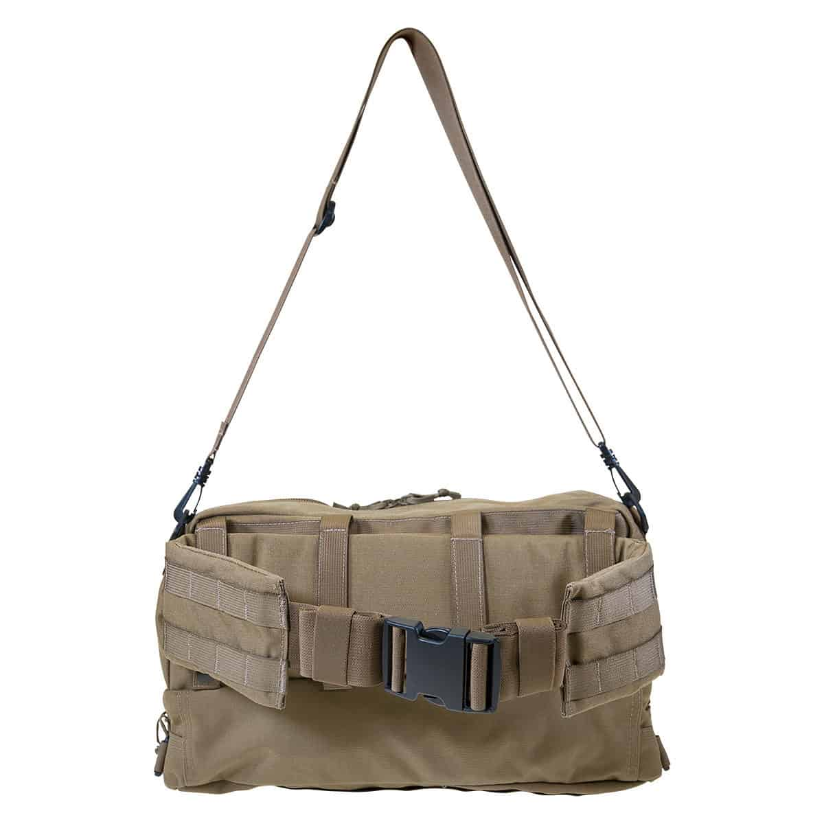 mojo combat life saver bag closed back with strap coyote brown