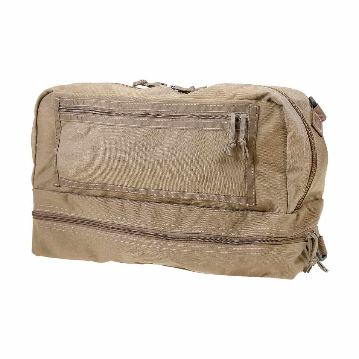 mojo combat life saver bag closed front left coyote brown