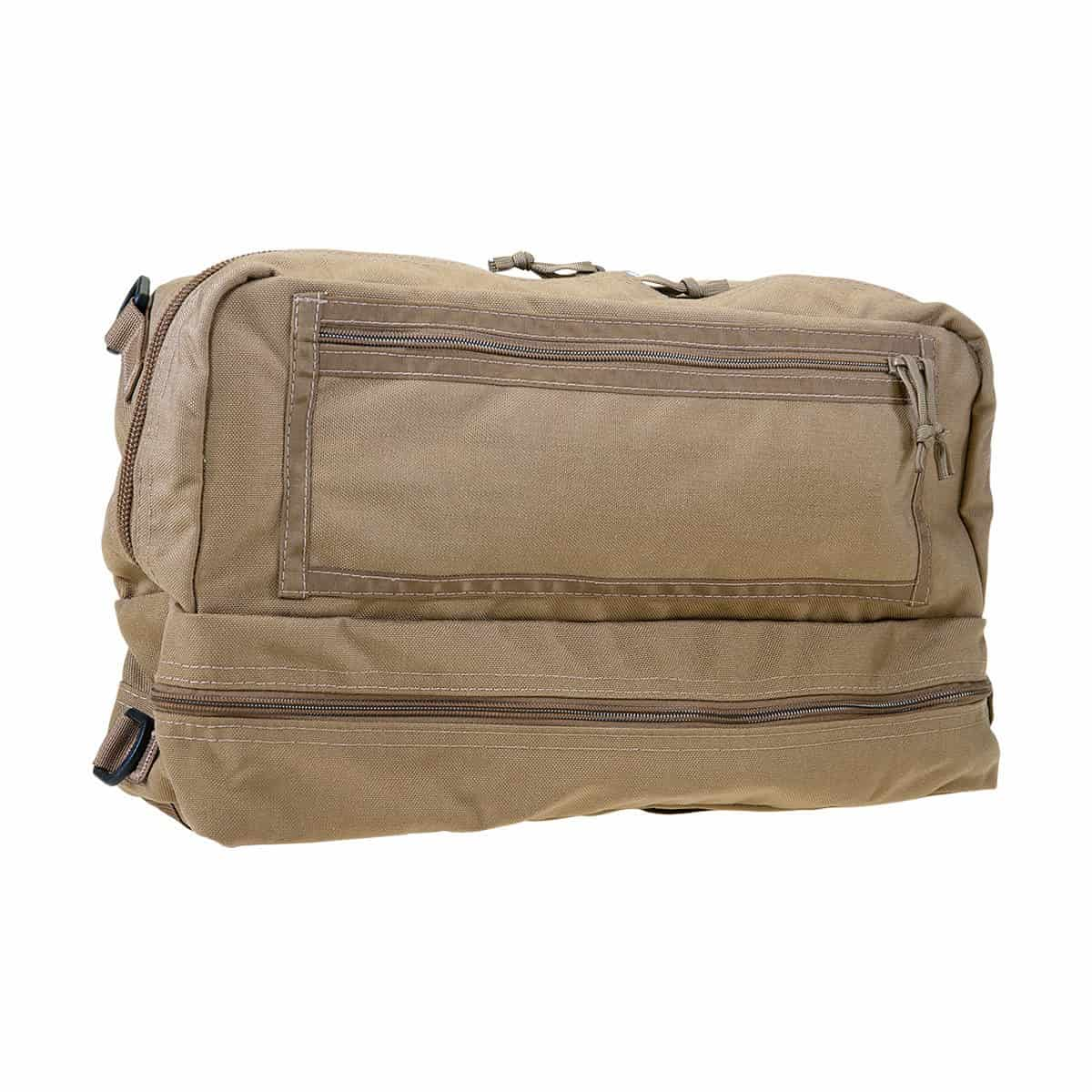 mojo combat life saver bag closed front right coyote brown