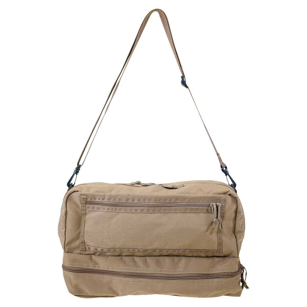 mojo combat life saver bag closed front with strap coyote brown