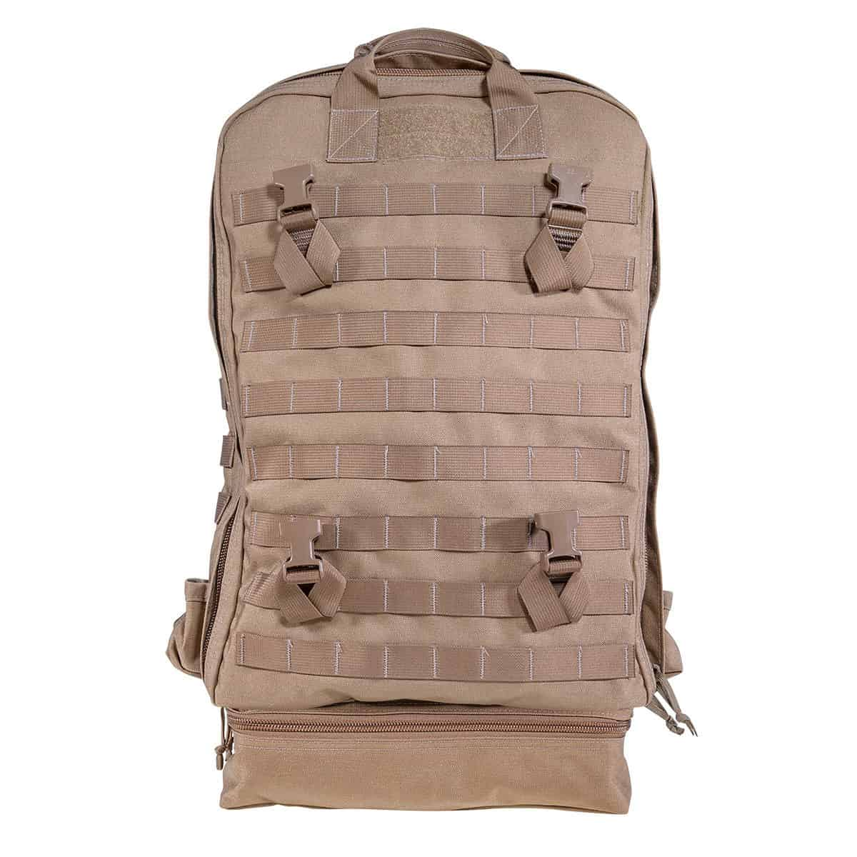 mojo direct action aid bag front closed coyote brown