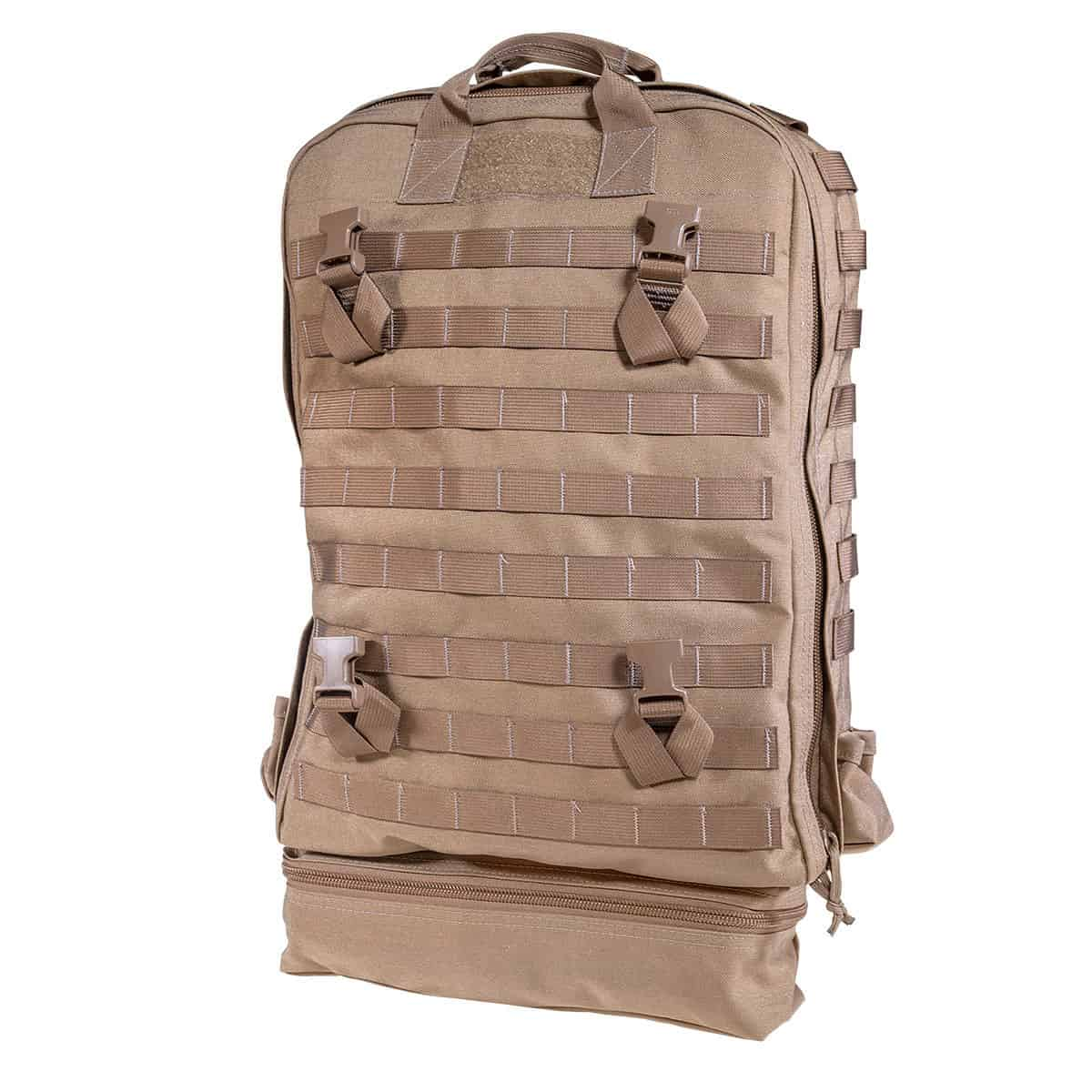 mojo direct action aid bag front closed left coyote brown