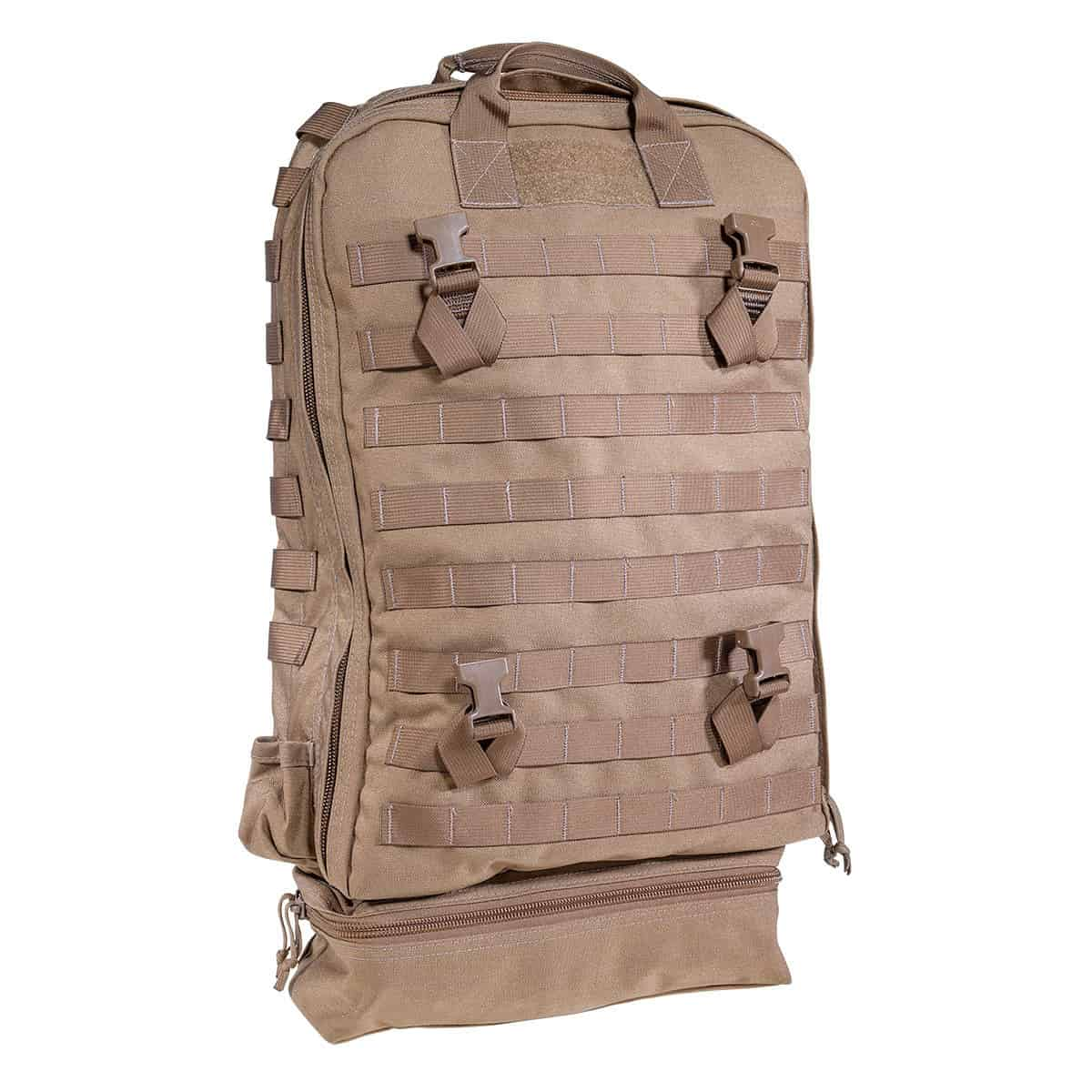 mojo direct action aid bag front closed right coyote brown