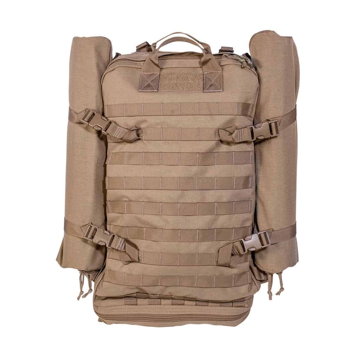 mojo direct action aid bag front closed with side pouches coyote brown