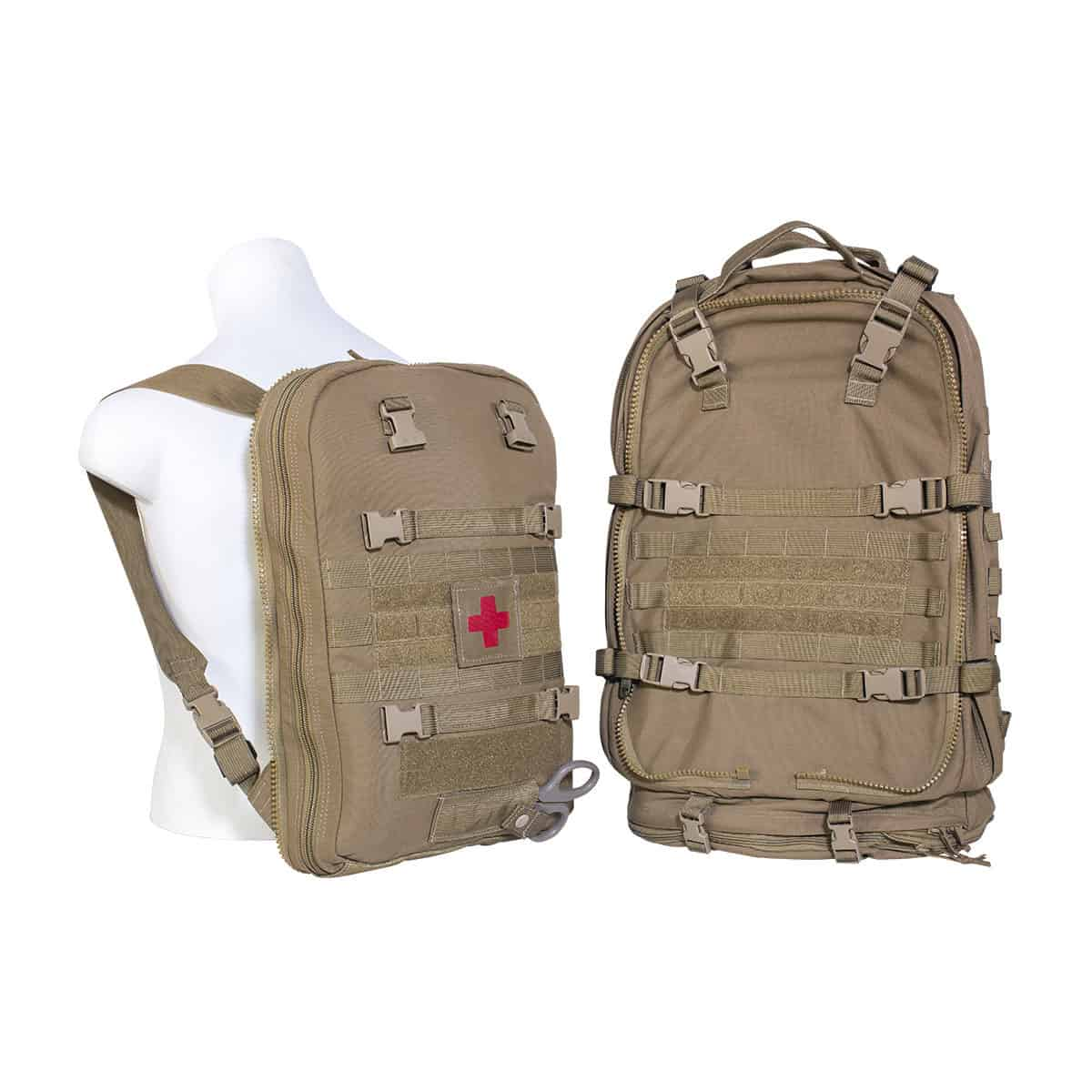 mojo multi mission aid bag bag front closed assault bag coyote brown