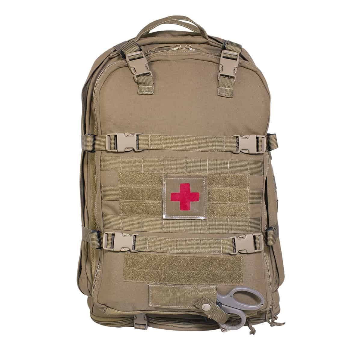 mojo multi mission aid bag bag front closed coyote brown