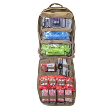 mojo multi mission aid bag front open advanced coyote brown