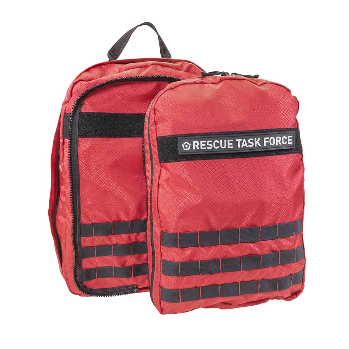 mojo rescue pack separated with patch closed front red