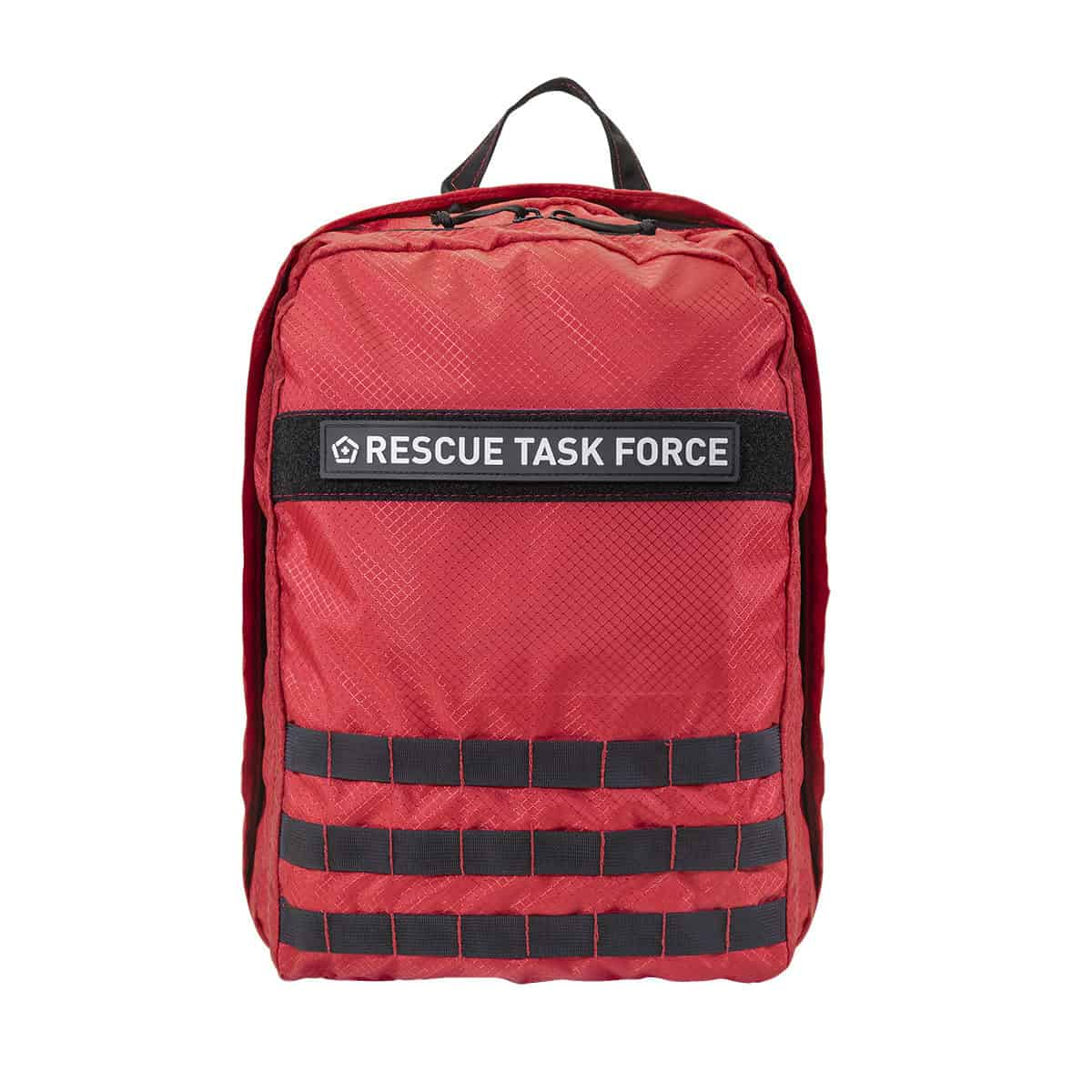 mojo rescue pack with patch closed front red