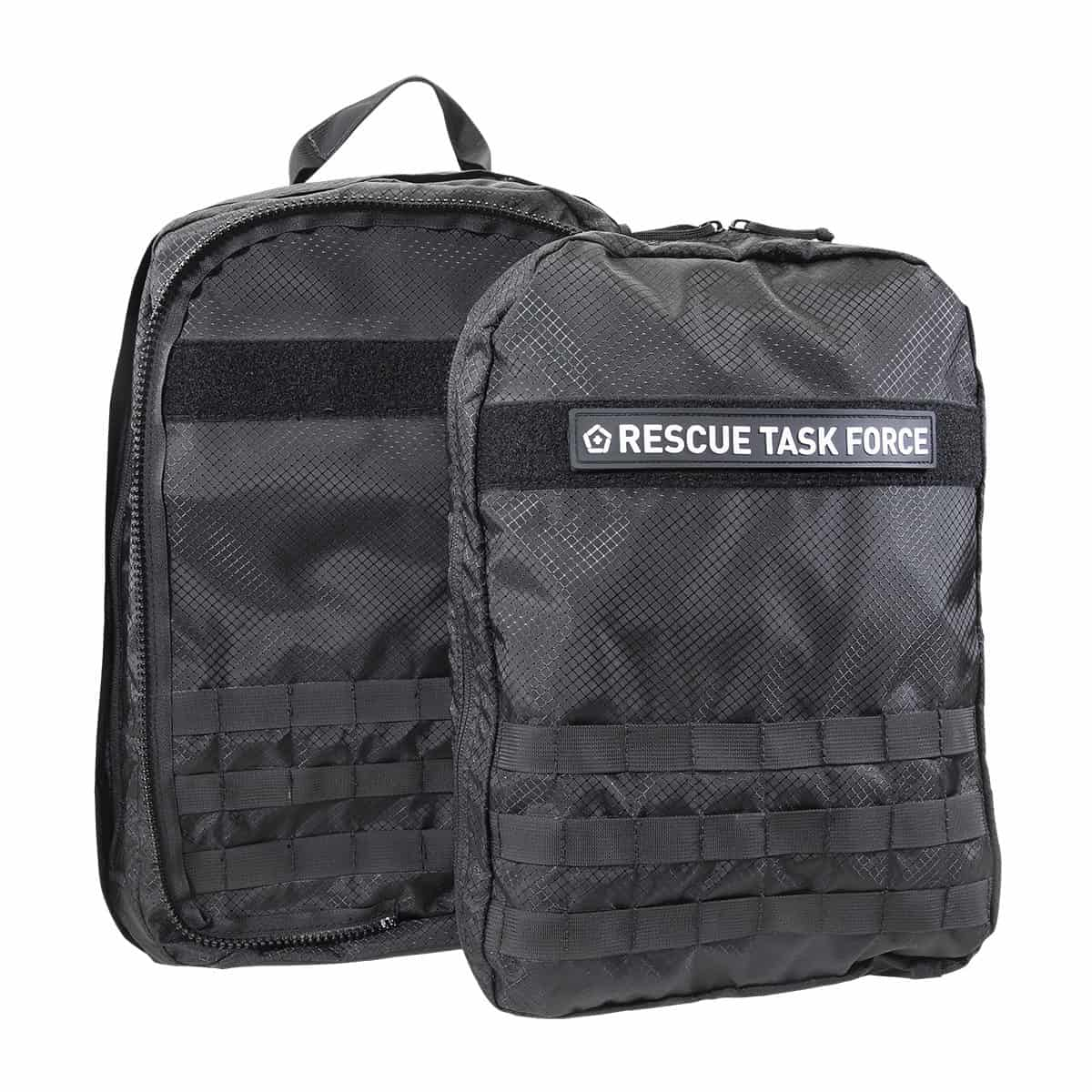 mojo rescue pack with patch separated closed front black