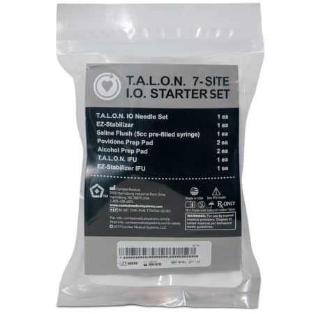 talon 7 site intraosseous starter set bag