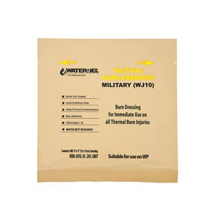 water jel military burn dressing 4x4 wj10