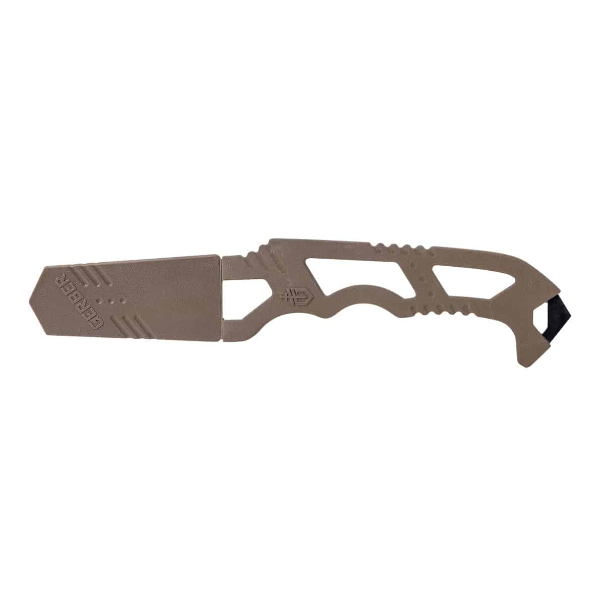 gerber crisis hook knife sheathed