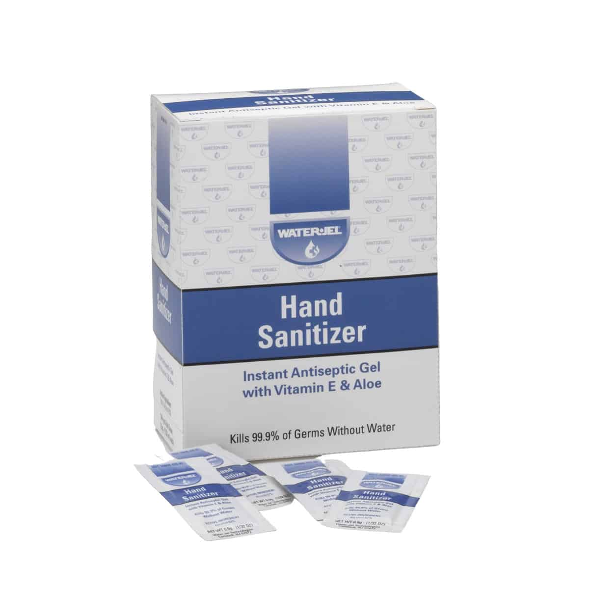 waterjel instant hand sanitizer unit dose packets